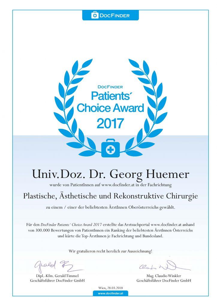 Beliebtester Plastischer Chirurg Oberösterreich