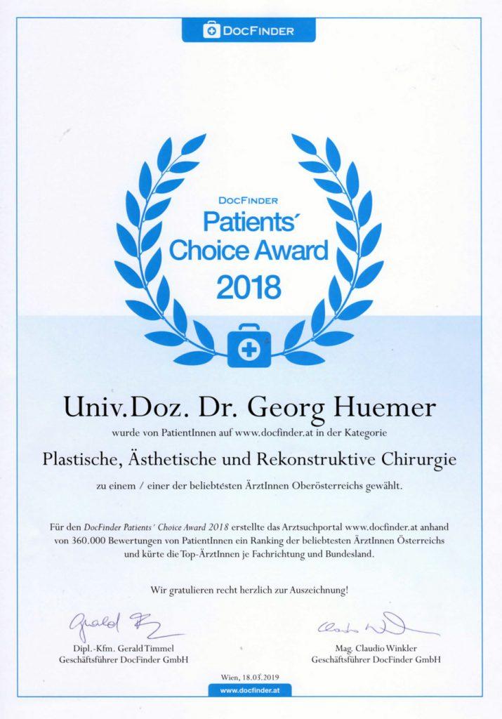 DocFinder Award 2018 Dr. Huemer